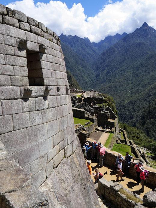 Im Innern der ehemaligen Inkastadt, Machu Picchu, Peru (Foto Jörg Schwarz)