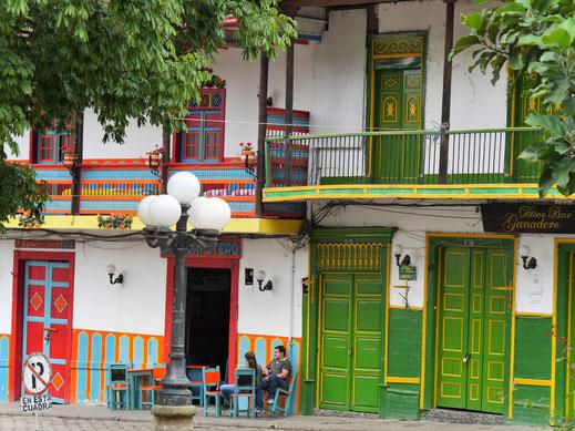 Jardin ist ein farbenfrohes Kleinod, nicht weit entfernt vom Medellín, Jardin, Kolumbien (Foto Jörg Schwarz)