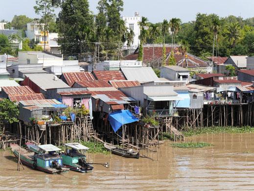 Das Bassacdelta von der Brücke aus, Chau Doc, Vietnam (Foto Jörg Schwarz)