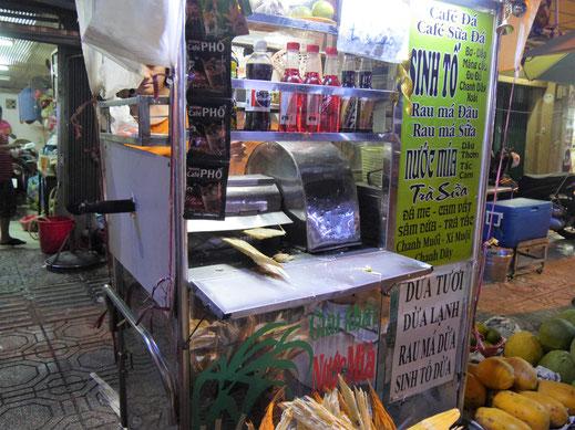 Hier wird Zuckerrohr gepresst... Ho-Chi-Minh-Stadt, Vietnam (Foto Jörg Schwarz)