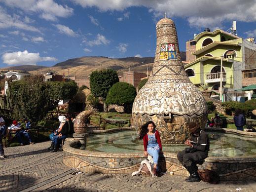 Schöne Slukpturen im Parque de la Identidad Wanka, Huancayo, Peru (Foto Magdalena Bosak)
