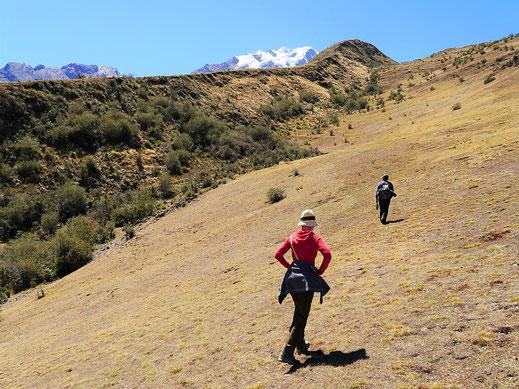 Heute geht es sichtbar und spürbar aufwärts! Sorata, Bolivien (Foto Jörg Schwarz)