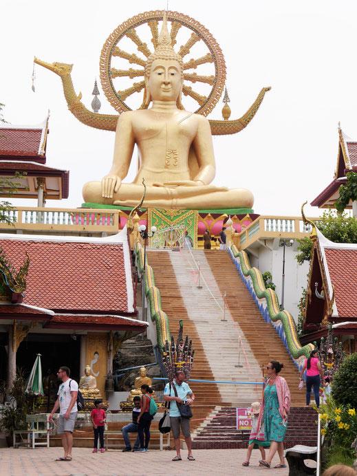 Auf der Insel unterwegs: Hier am Big Buddha in der Bangrak-Bucht, Koh Samui, Thailand (Foto Jörg Schwarz)