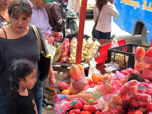 Da staunt selbst der Kolumbianer: Kuriose Auslagen... Sogamoso, Kolumbien (Foto Jörg Schwarz)