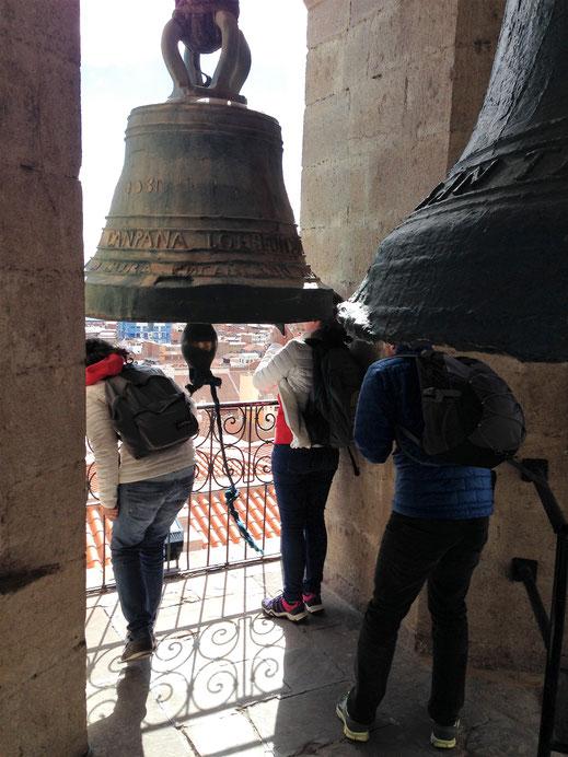Blick aus der obersten Etage der Kathedrale, Potosí, Bolivien (Foto Jörg Schwarz)