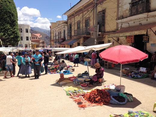 Der Samstagsmarkt in Sorata, Sorata, Bolivien (Foto Jörg Schwarz)