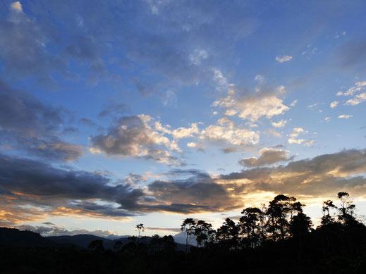 Ein ereignisreicher Tag endet... San Augustín, Kolumbien (Foto Jörg Schwarz)