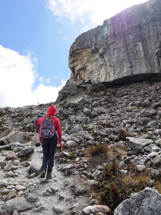 Irgendwann geht man nur noch auf Fels und Stein... El Cocuy Nationalpark, Kolumbien (Foto Jörg Schwarz)