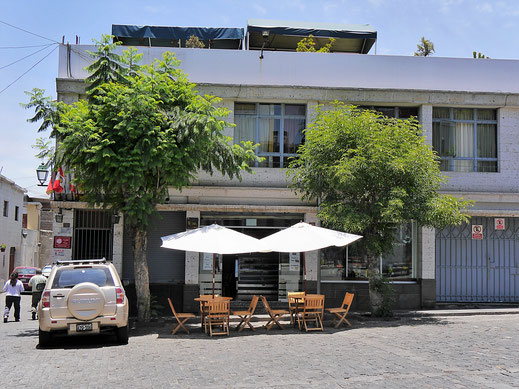 Unser Hostel in Arequipa: Marlon's House, Arequipa, Peru (Foto Jörg Schwarz)