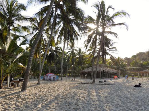Man kann auch wunderbar campen hier... Playa Los Angeles, Kolumbien (Foto Jörg Schwarz)