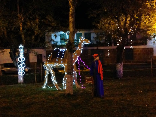 Weihnachten ist hier natürlich (auch) eine religiöse Angelegenheit... Barichara, Kolumbien (Foto Jörg Schwarz)