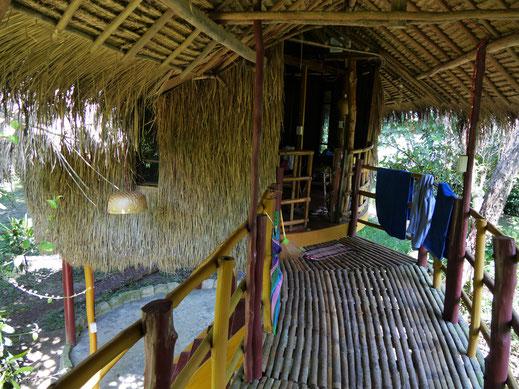 Rustikale, aber chilligee und naturverbundene Unterkunft Neptune Adventures, Preat-Fluss, Tatai-Wasserfall, bei Koh Kong, Kambodscha(Foto Jörg Schwarz)