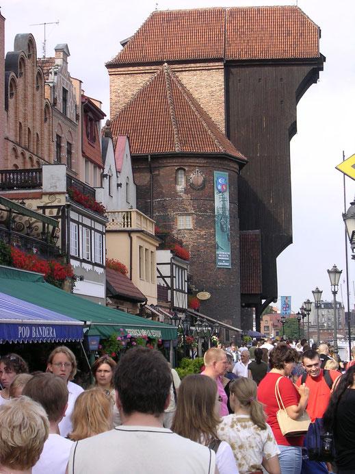 Blick auf die alten Speicher im Hafen von Gdansk (Danzig) (Foto Jörg Schwarz)