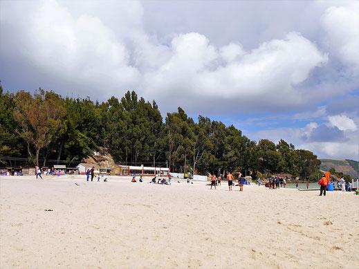 Keine Fatamorgana: Ein herrlicher Strand auf 3.015 m Höhe, Lago de Tota, Kolumbien (Foto Jörg Schwarz)