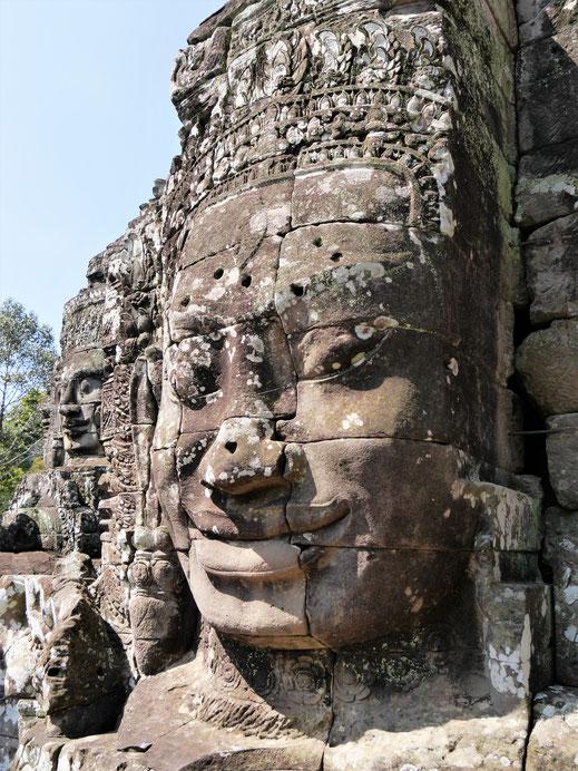 Jeder dieser Köpfe - es gibt hier viele - hat seinen individuellen Charakterausdruck, Bayon, Kambodscha (Foto Jörg Schwarz)