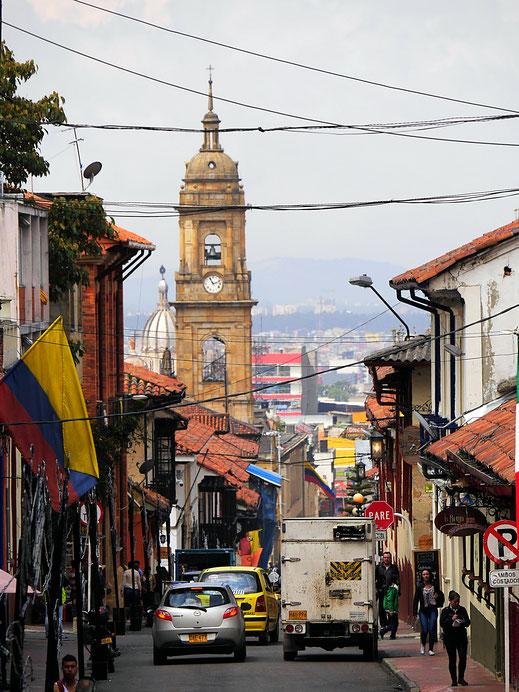 Blick aus der Altstadt Bogotás auf das Zentrum, Bogotá, Kolumbien (Foto Jörg Schwarz)