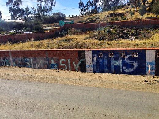 In Bolivien ist die 'Si'-Kampagne allgegenwärtig, Titicacasee, Bolivien (Foto Jörg Schwarz)