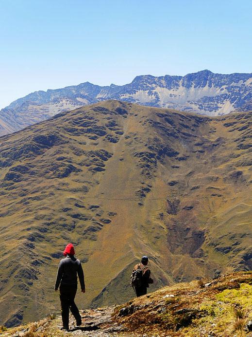 Abwärts... Sorata, Bolivien (Foto Jörg Schwarz)