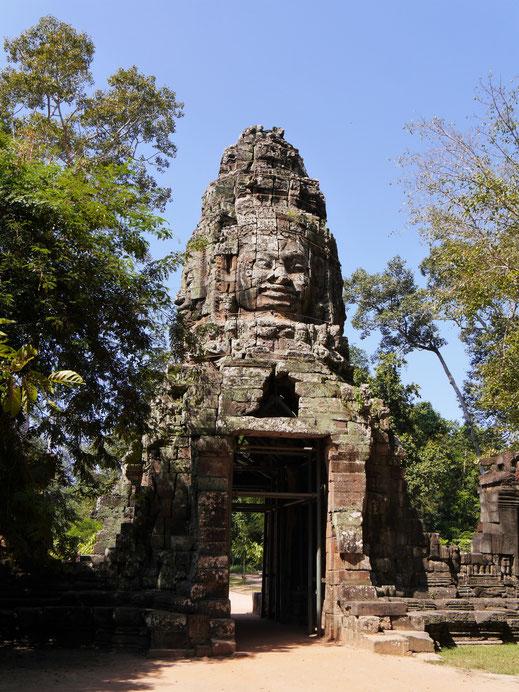 Auch Ta Prohm hat vierköpfige Ein- und Ausgangstore, Ta Prohm, Kambodscha (Foto Jörg Schwarz)