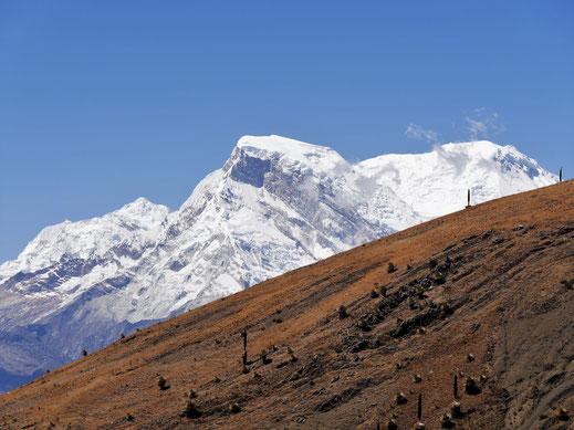 Der Huascarán im Hintergrund, Punta Winchus, Peru (Foto Jörg Schwarz)