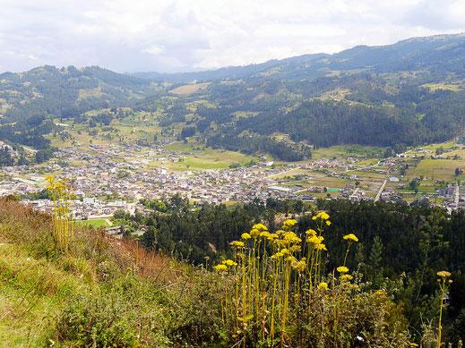 Aussicht vom Mirador über Sogamoso, Sogamoso, Kolumbien (Foto Jörg Schwarz)