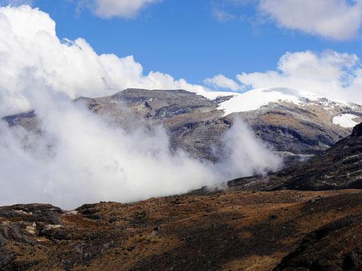 Je höher man trekkt, desto karger und eisiger wird es... NP Los Nevados, Kolumbien (Foto Jörg Schwarz)