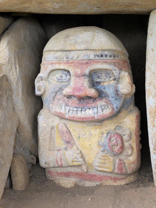 Überraschende Skulpturen findet man in der Gegend häufig, San Augustín, Kolumbien (Foto Jörg Schwarz)