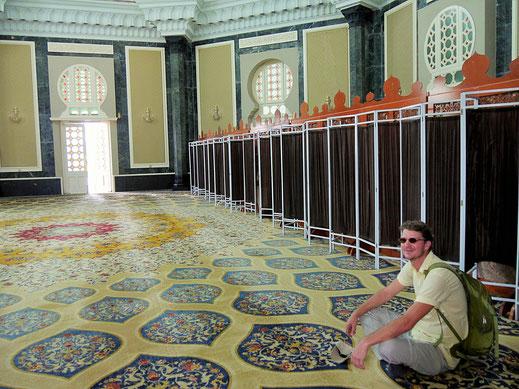 Im Inneren der Moschee, Kuala Kangsar, Malaysia (Foto Jörg Schwarz)