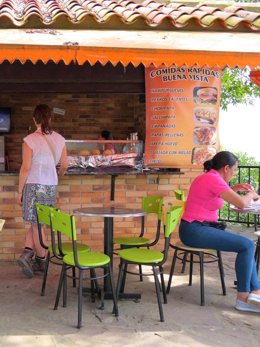 Klasse Snack zwischendurch... Aratoca, Kolumbien (Foto Jörg Schwarz)