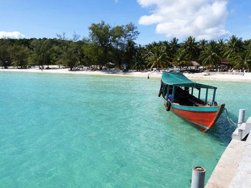 Was für ein Strand! Coconut-Beach, Koh Rong-Island, Kambodscha (Foto Jörg Schwarz)