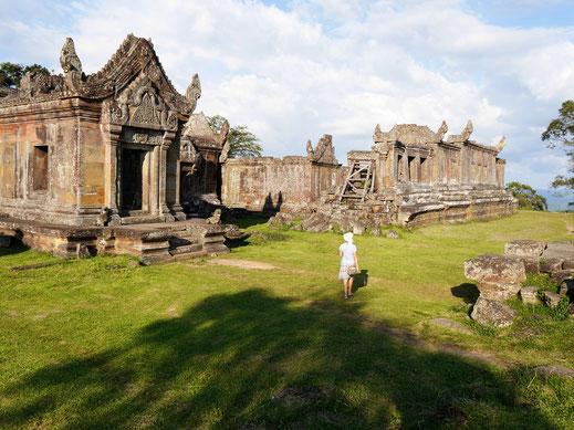 Die noch weitgehend gut erhaltene archäologische Stätte bietet viel Atmosphäre, Prasat Preah Vihear, Region Preah Vihear, Kambodscha  (Foto Jörg Schwarz)