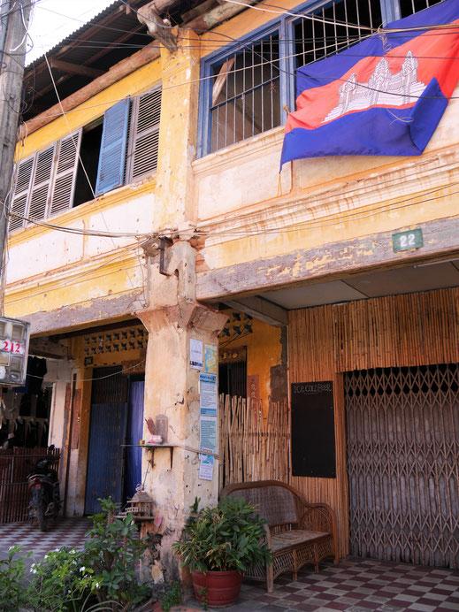 Chinesische Storehousarchitektur in Kampot, Kambodscha (Foto Jörg Schwarz)