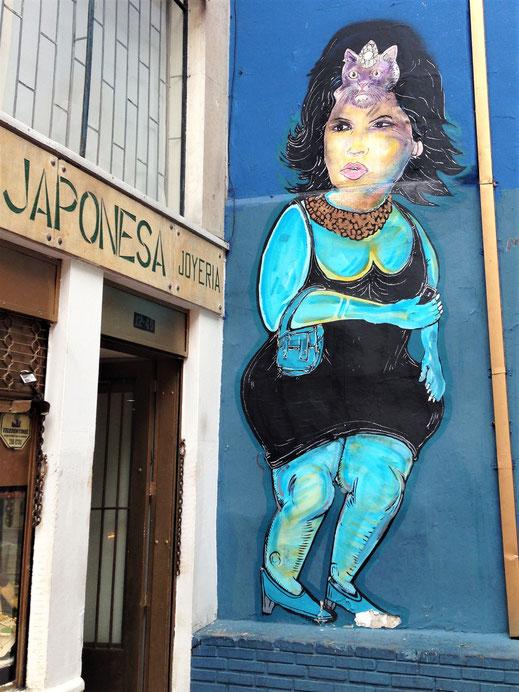 Zwischenstopp Bogotá: Wunderschöne Streetart, Bogotá, Kolumbien (Foto Jörg Schwarz)