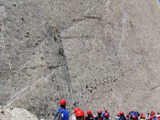 Faszinierende Spuren im Schlamm, Sucre, Bolivien (Foto Jörg Schwarz)