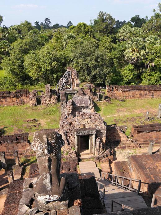 Wer hier aufsteigt, der hat fantastischen Weitblick in zahlreiche Richtungen, Pre Rup, Kambodscha (Foto Jörg Schwarz)
