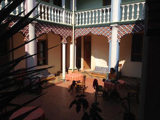 Der Patio unseres Hauses, Toro Toro, Bolivien (Foto Jörg Schwarz)