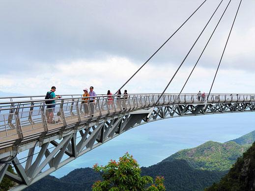 Nahezu freischwebend, die Skybridge, Langkawi, Malaysia (Foto Jörg Schwarz)
