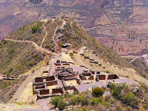 Die Kinchiraqay-Gruppe - das Zeremoniaszentrum, Pisac, Peru (Foto Jörg Schwarz)