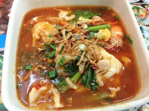 Eine Mee Bandung - Bandung: Shrimps/Garnelen... Tanah Rata, Malaysia (Foto Jörg Schwarz)