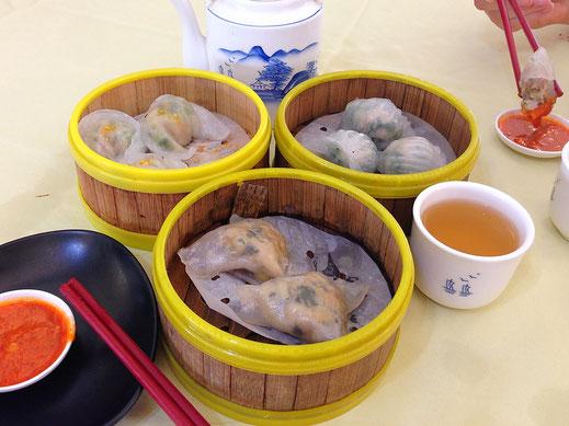 Runde 1 unseres Dim Sum-Frühstücks... Ipoh, Malaysia (Foto Jörg Schwarz)