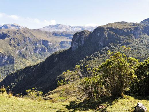 Am Eingang der Nationalparkverwaltung, Los Nevados, Kolumbien (Foto Jörg Schwarz)
