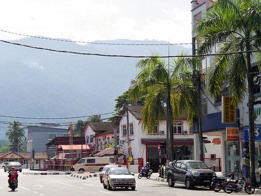 Im Hintergrund thront stets der Gunung Hijau, Taiping, Malaysia (Foto Jörg Schwarz)