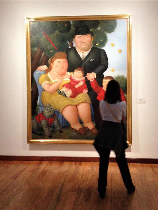 Liebhaber von Gemälden und Skulpturen des Kolumbianers Botero werden im gleichnamigen Museum glücklich... Bogotá, Kolumbien (Foto Jörg Schwarz)