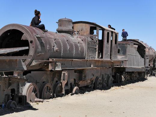 Eisenbahnfans muss das Herz aufgehen... Uyuni, Bolivien (Foto Jörg Schwarz)