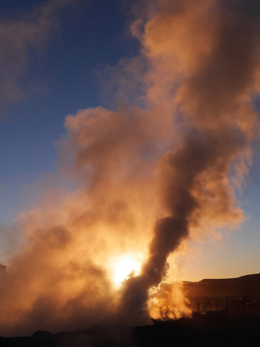 Das Geothermalfeld Sol de Manana, Reserva Nacional de Fauna Andina Eduardo Avaroa, Bolivien (Foto Jörg Schwarz)