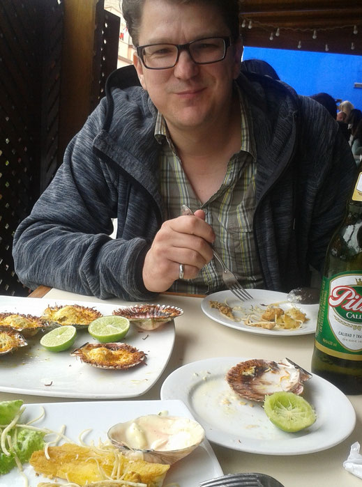 Der Autor im Restaurant in Barranco, Barranco, Lima (Foto Magdalena Bosak))