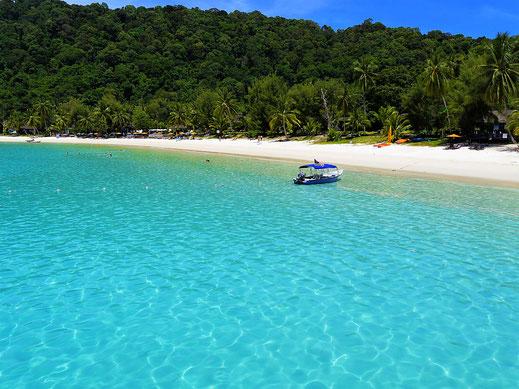 Für uns optisch perfekt! Teluk Pauh, Pulau Perhentian Besar, Malaysia (Foto Jörg Schwarz)