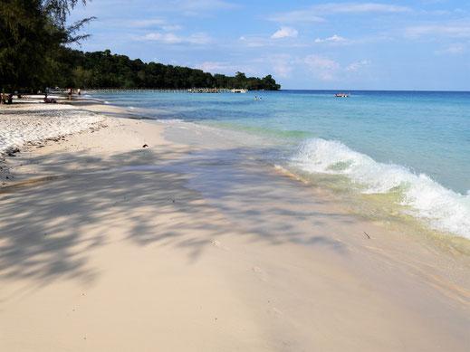 Was für ein fabelhafter Streifen Sand, Koh Rong, Kambodscha (Foto Jörg Schwarz)