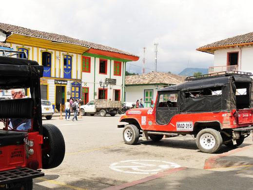Sie gehören zum Stadtbild in dieser Region einfach dazu, Salento, Kolumbien (Foto Jörg Schwarz)