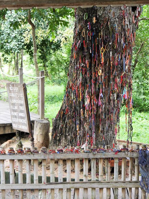 Gedenkstätte auf den sog. Killing Fields, bei Phnom Penh, Kambodscha (Foto Jörg Schwarz)